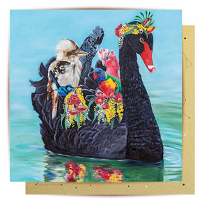 GREETING CARD - SWAN SONG