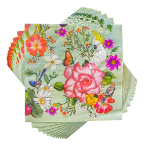 PARTY NAPKINS SECRET GARDEN BIRDS