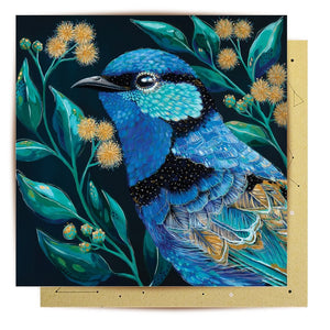 GREETING CARD - CLANCY FAIRY WREN