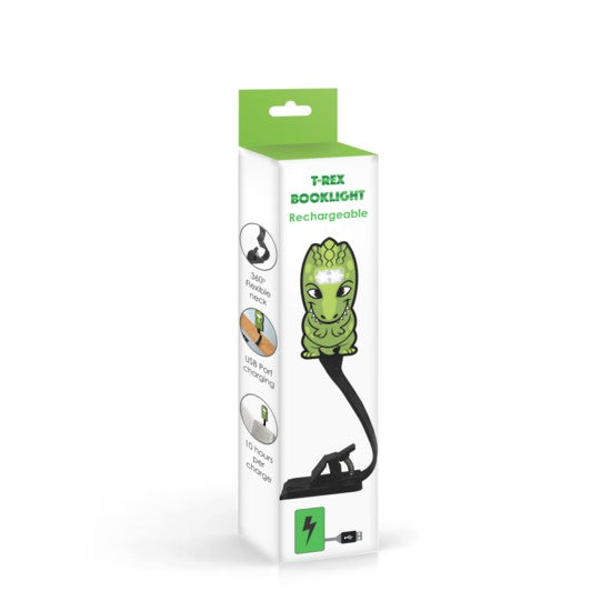 Animal Book Light Rechargeable - T Rex