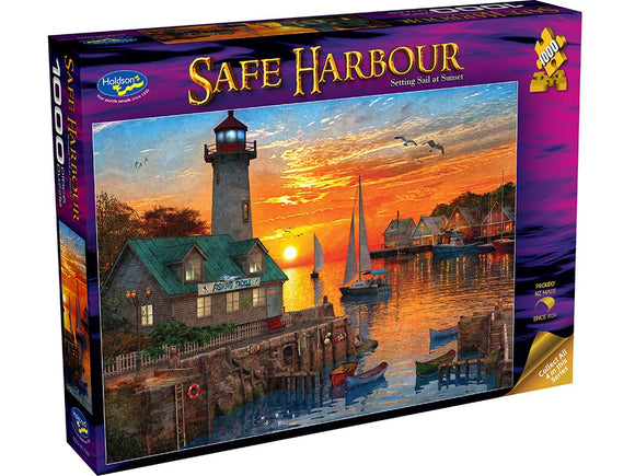 SAFE HARBOUR - SETTING SAIL AT SUNSET 1000PCE