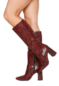 Bota Print Girl Cult - Burdeo