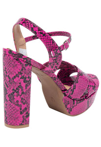 Sandalia Print Feelin' Cute - Fucsia