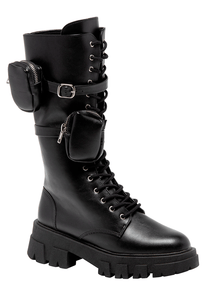 Bota Bolsillos Fashion Influence - Negro
