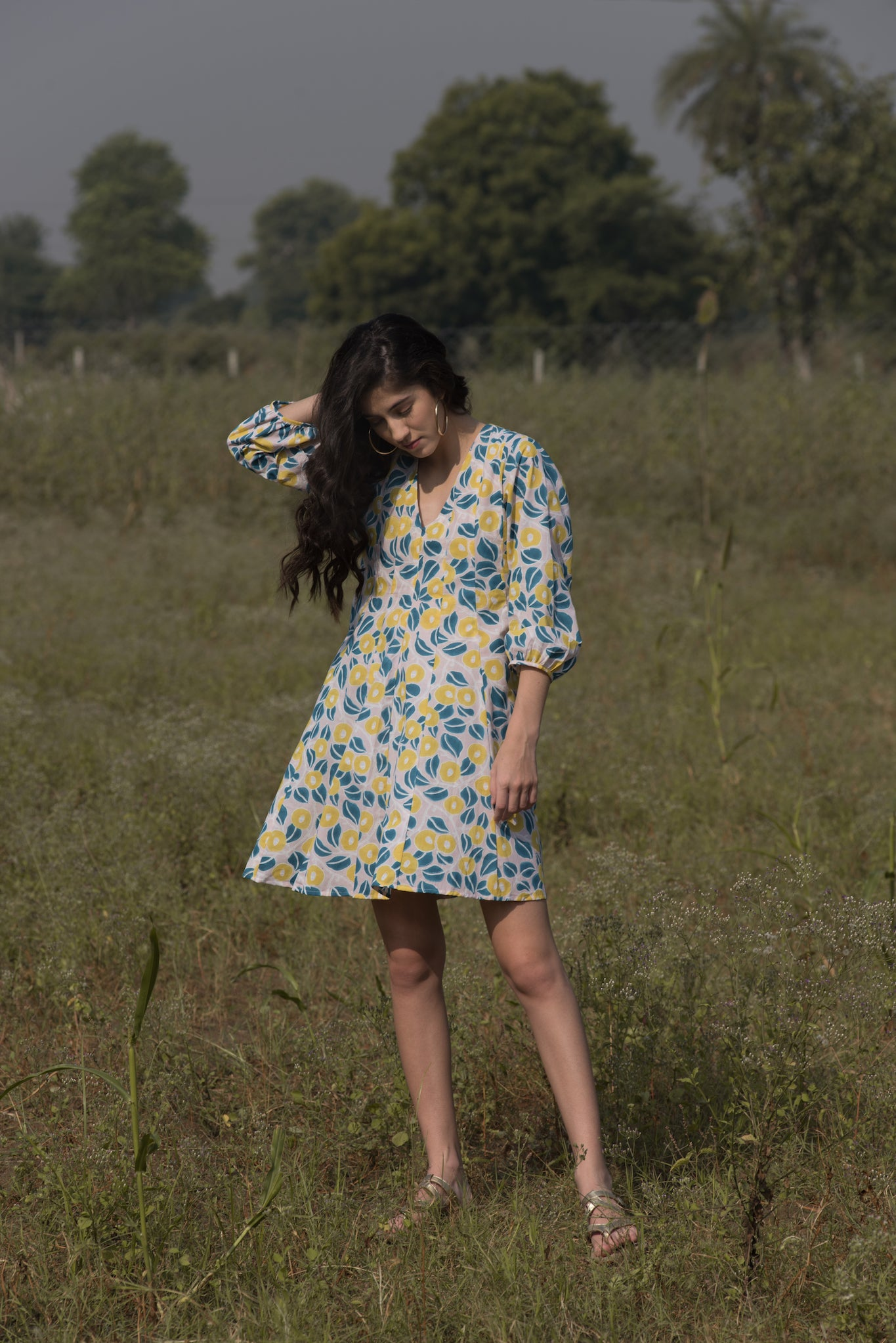 NANOHANA PANELLED DRESS