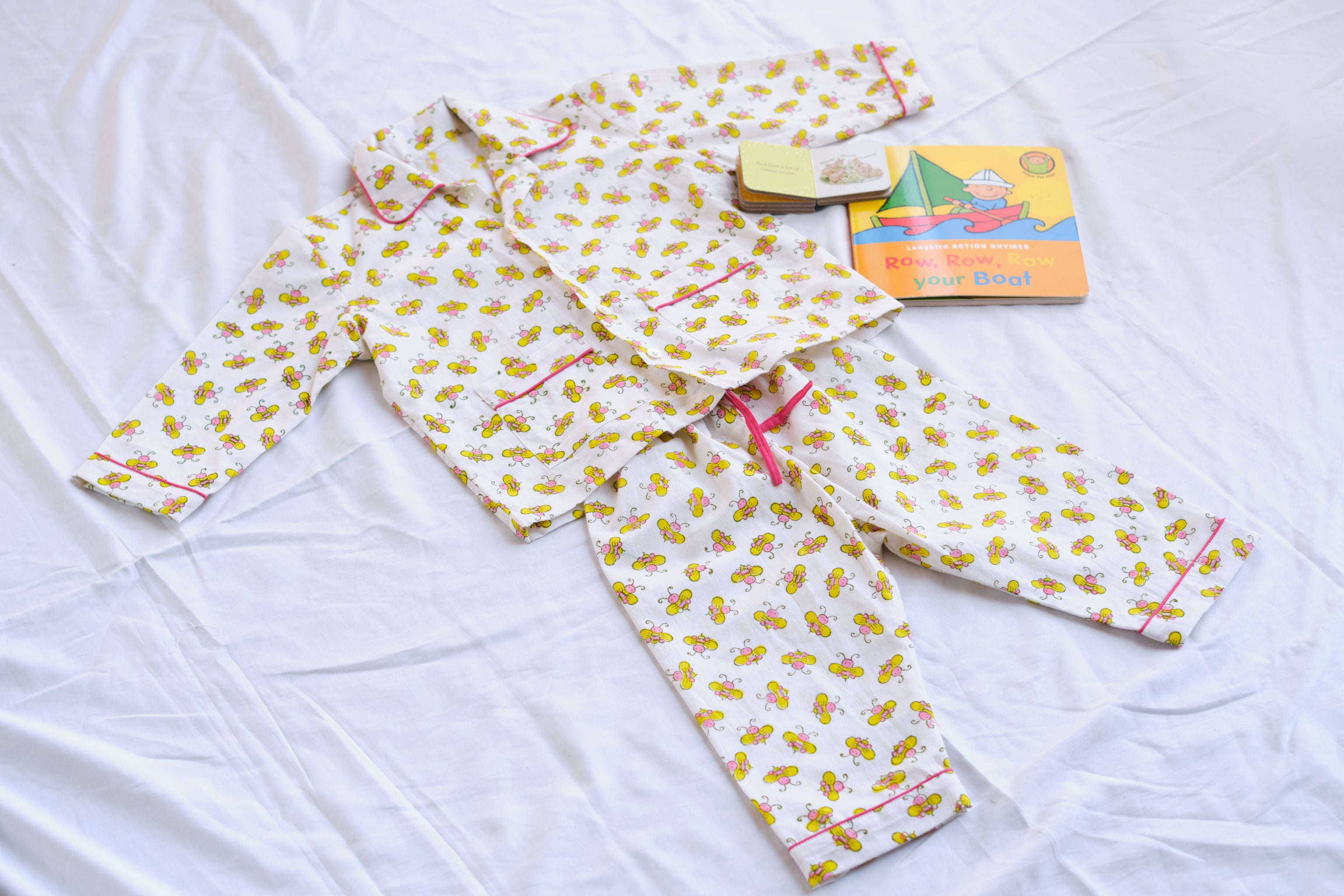 kids pure cotton hand block printed PJ set