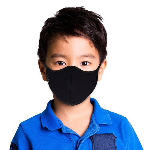 Boy wearing Black Face Mask