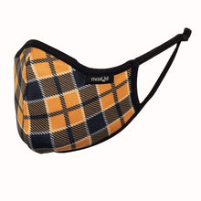 Load image into Gallery viewer, Orange and Black Plaid Face Mask