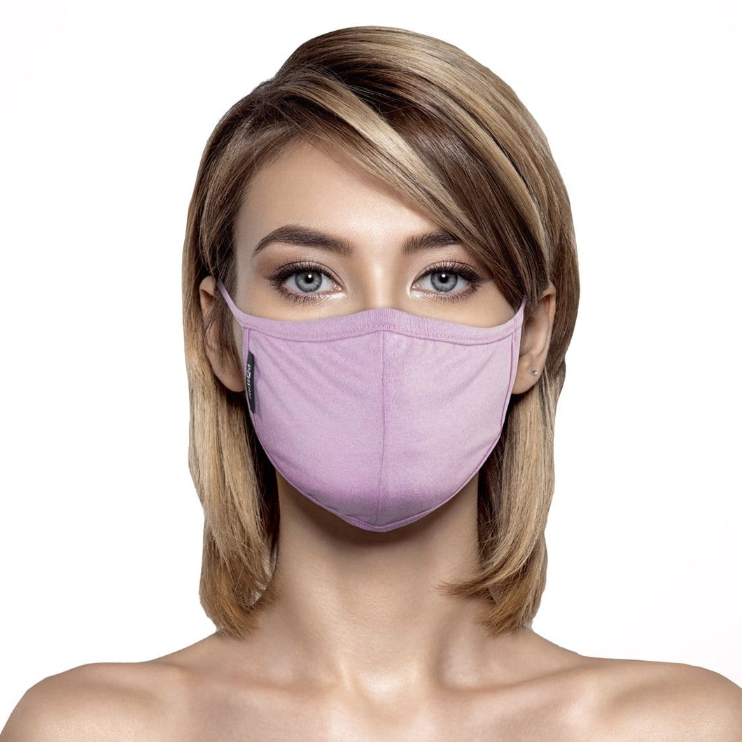 Woman wearing Light Pink Face Mask