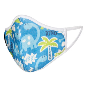 Dino Face Mask - Kids ( Organic Cotton )