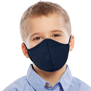 Kid wearing Navy Face Mask