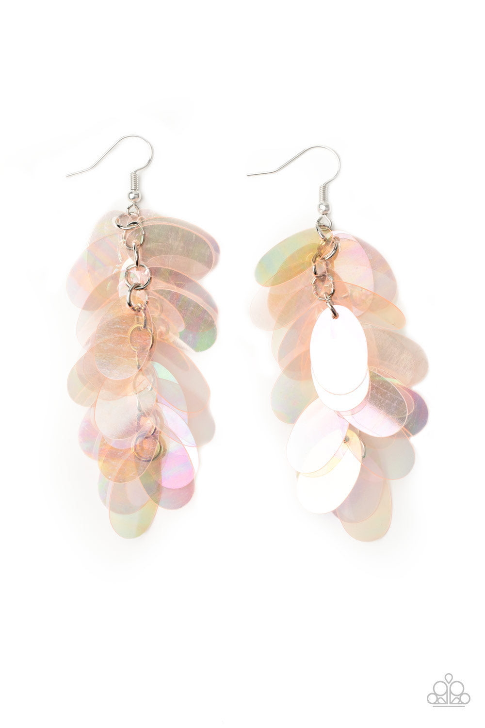 Earrings with sequins