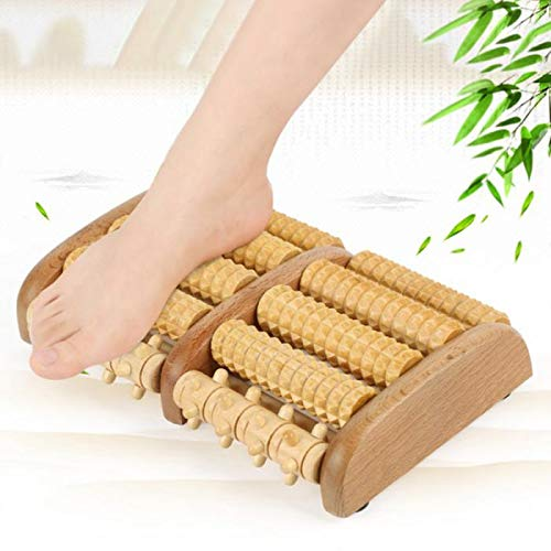 1pcs Stress Relief Relaxation Therapy Wooden Roller Massager