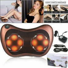 Load image into Gallery viewer, Electric Lumbar Neck Back Massage Pillow Massager Kneading Cushion Heat For Home Car (Original : ThermalC)