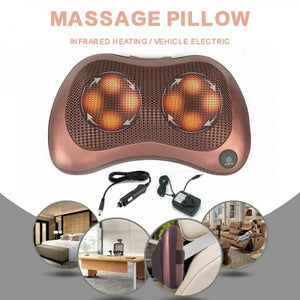 Electric Lumbar Neck Back Massage Pillow Massager Kneading Cushion Heat For Home Car (Original : ThermalC)