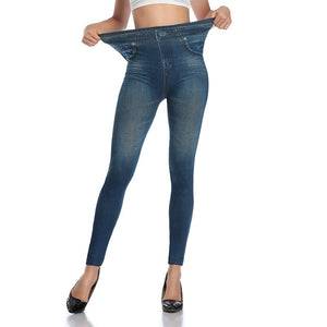 Elastic Denim Leggings Stretchy Resistant Jean Look Pants  (Original : jmlpant)
