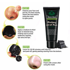 Bamboo Charcoal Deep Cleansing Blackhead Remover Peel-Off Mask (Original : BMask)