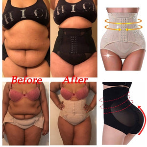 Front Hook Open Women's Shaping Pants High Waist Lifting Hip Postpartum Panties Mesh Anti-rolling Hips Corset Pants (Original : PBSLower)