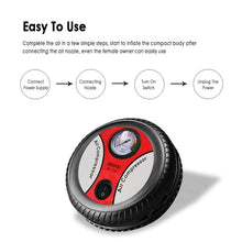 Load image into Gallery viewer, Mini Portable Electric Air Compressor Pump Car Tire Inflator Pump Tool 12V 260PSI (Original : CarCCircle)
