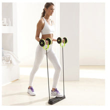 Load image into Gallery viewer, Muscle Exercise Equipment Home Fitness Equipment Double Wheel Abdominal Power Wheel Ab Roller Gym Roller Trainer Training (Green) (Original : RevoFlex)