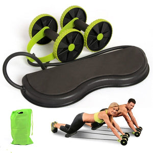 Muscle Exercise Equipment Home Fitness Equipment Double Wheel Abdominal Power Wheel Ab Roller Gym Roller Trainer Training (Green) (Original : RevoFlex)
