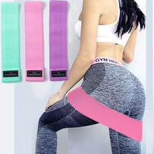 Load image into Gallery viewer, Anti slip Resistance Bands for gym for yoga workout stretching training (Original : ReBand)