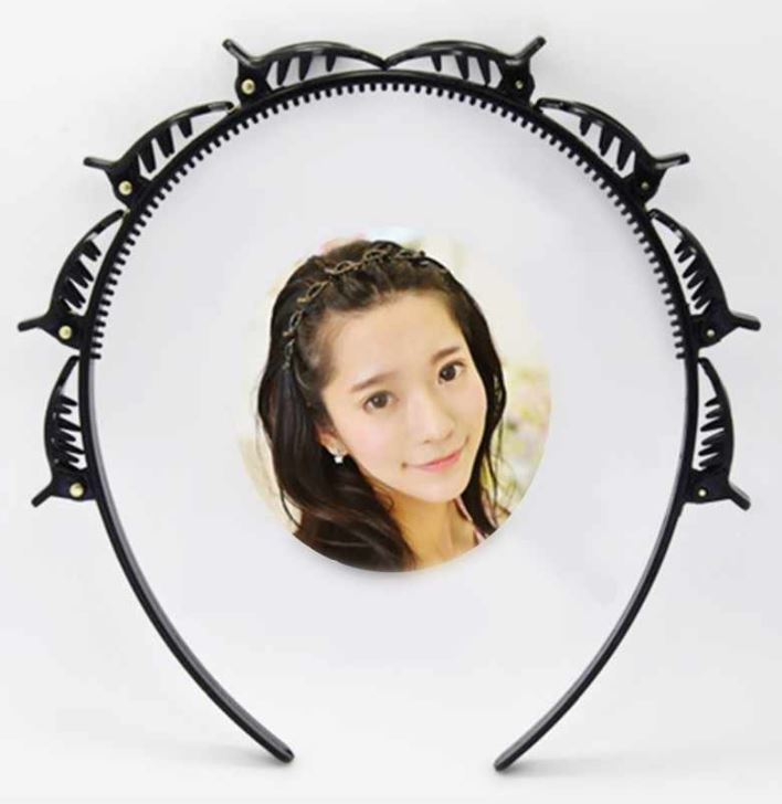 Double Layer Band Twist Front Hair Claw Clip (Original : HBC)