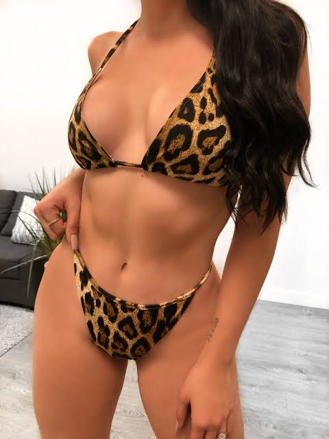 STANDARD Cheetah Print Bra Panty Set For Women