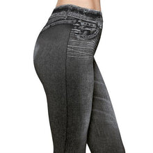 Load image into Gallery viewer, Elastic Fashion Denim Leggings Stretchy Resistant Jean Look Pants  (Original : jmlpant)