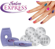 Load image into Gallery viewer, Salon express Nail Art Stampping Kit (Original : SLEXP)