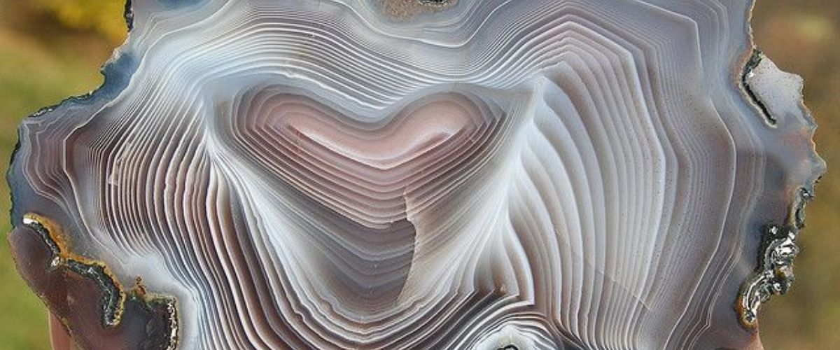 Close up of Botswana Agate Slice