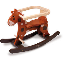 My First Brown Rocking Horse + Removable Hoop