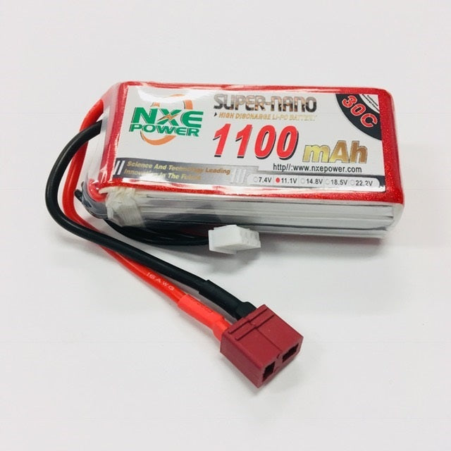 NXE 11.1V 1100Mah 30C Soft Case With Deans