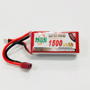 NXE 11.1V 1500Mah 30C Soft Case With Deans Plug