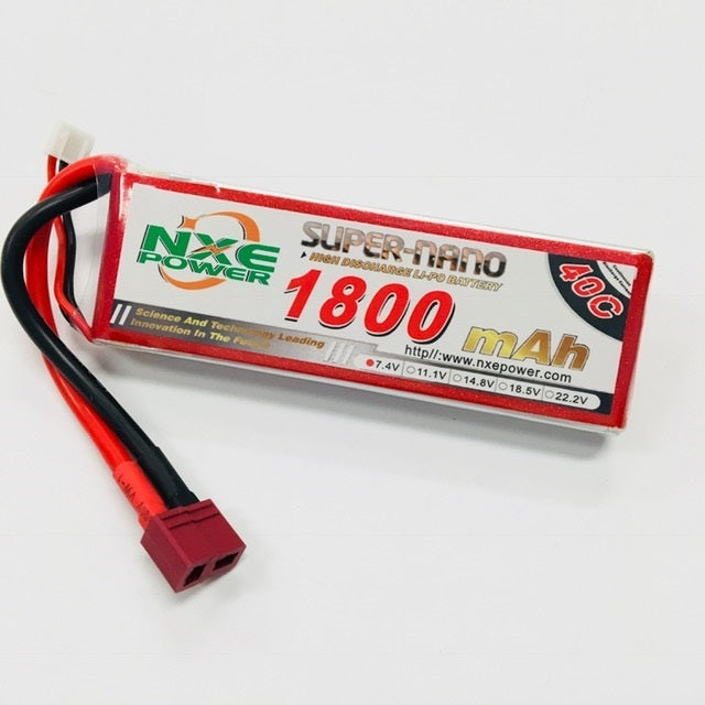 NXE 7.4V 1800Mah 40C Soft Case With Deans Plug