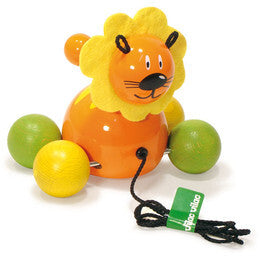 Baby Lion Pull Toy by Vilac