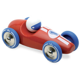 Large Red Wooden Race Car