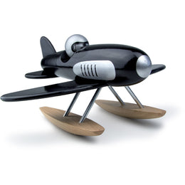 Black Wooden Toy Seaplane