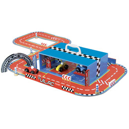 Race Track Set in Suitcase by Vilac