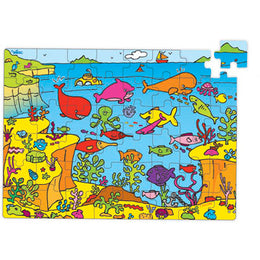 Submarine Life 48 pce Puzzle in Whale Box