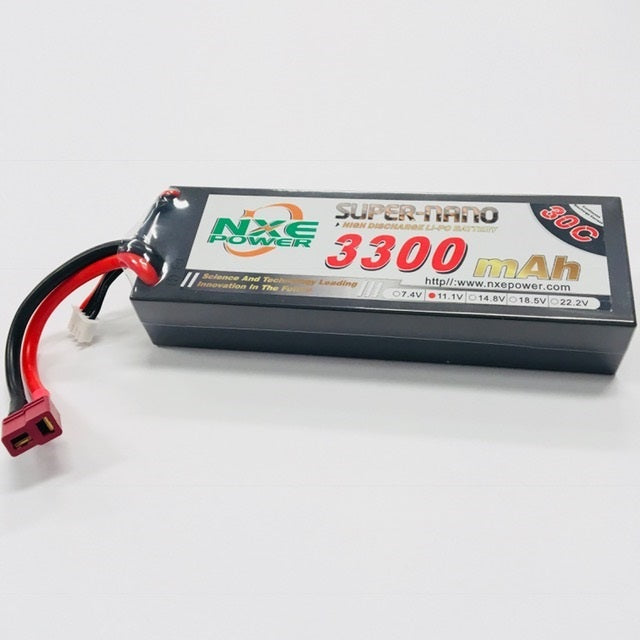 NXE 11.1V 3300Mah 30C Hard Case With Deans Plug