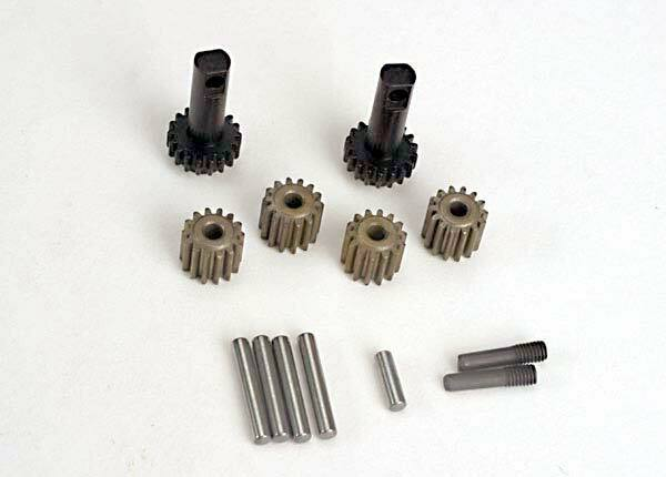 TRAXXAS PLANET/SUN GEARS & SHAFT
