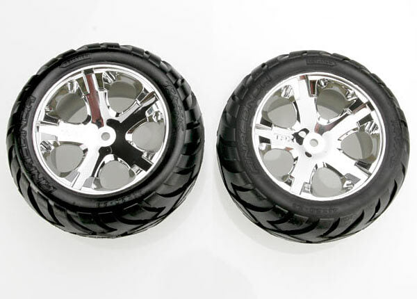 TRAXXAS TYRES AND WHEELS ASSEMBLED AND GLUED
