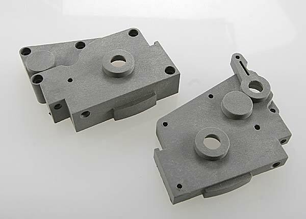TRAXXAS GEARBOX HALVES (GREY) (LEFT STRAIGHT)