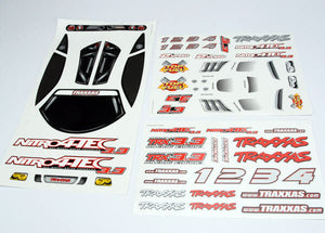 TRAXXAS DECAL SHEET NITRO 4TEC