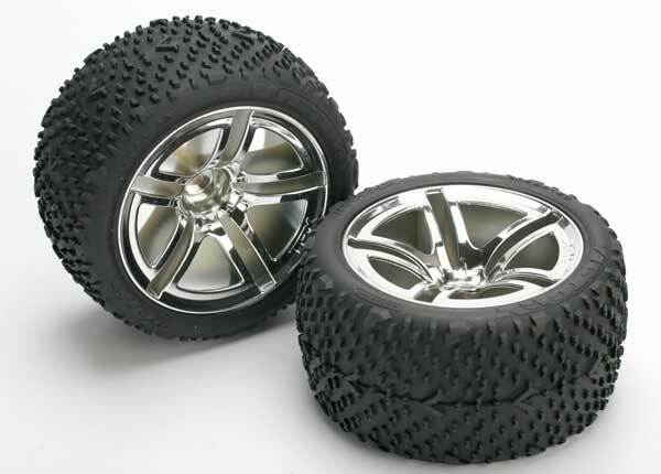 TRAXXAS TYRES & WHEELS REAR (2)