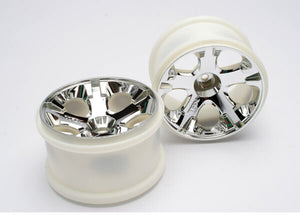 TRAXXAS WHEELS CHROME 2.8""