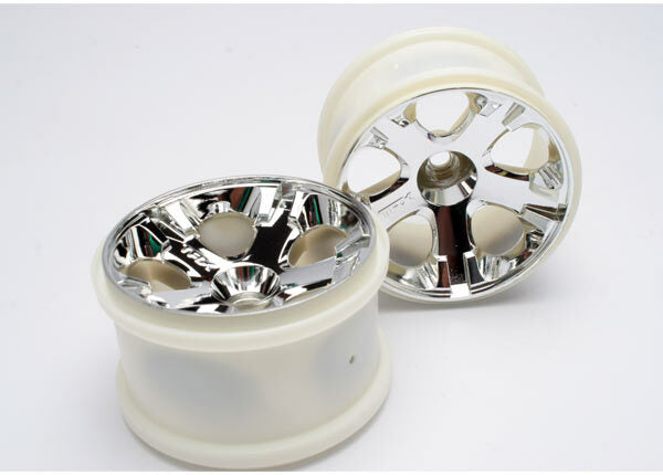 TRAXXAS WHEELS ALL STAR 2.8 CHROME FRONT 2