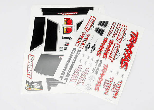 TRAXXAS DECAL SHEETS SUMMIT