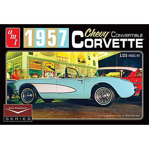AMT 1015 1/25 Cindy Lewis Car Culture - 1957 Chevy Corvette Convertible (White)
